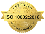 ISO 10002:2018 certified company
